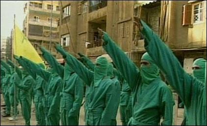 Des extrémistes du Hamas au salut hitlérien nazi