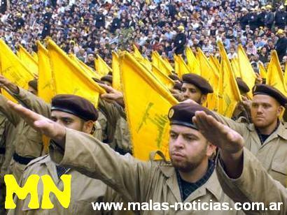 Le Hizbollah en salut hitlérien nazi