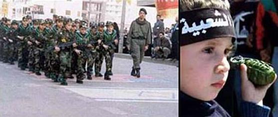 Des enfants soldats à l'entrainement, qui tiennent de véritables mitraillettes ou grenades. Le supporterions nous en France ?