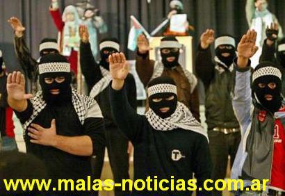 Des jeunes palestiniens en démonstration nazie