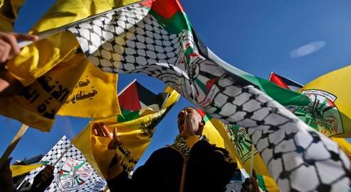 À Ramallah, seuls les militants du Fatah peuvent brandir leurs fanions pendant les manifestations contre Israël. Les étendards verts du Hamas ont été interdits de facto après les combats fraticides de 2007.