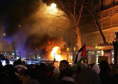 Manifestation pro-palestinienne à Paris (la veille)