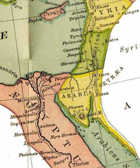 Les Nabatéens ne s'établirent jamais à l'ouest ou à côté du Jourdain