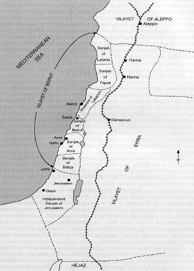 Histoire de la palestine avec objectivit les historiens r pondent - La carte de l empire ottoman ...